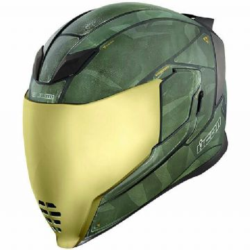 Icon Airflite BattleScar 2 Military Green Full Face Motorcycle Motorbike Helmet